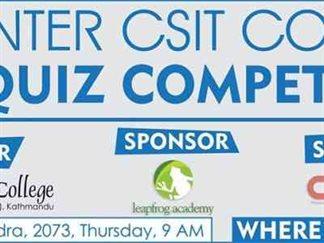 CSIT College Quiz Competition