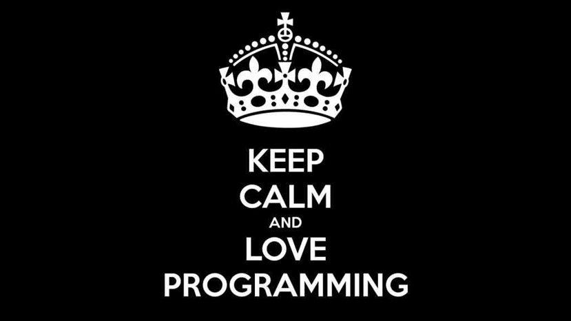 keep kalm and love programming
