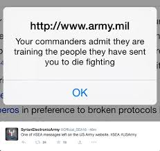 US's Army website hacked