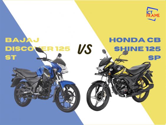 Bajaj Discover 125 ST vs Honda CB Shine SP