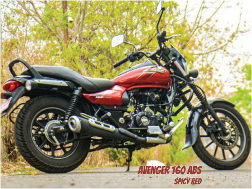 Bajaj Spicy Red Motorcycle