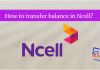 Balance Transfer in Ncell