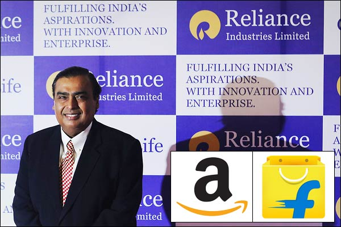 Billionaire Mukesh Ambani Plans Challenge to Amazon in India