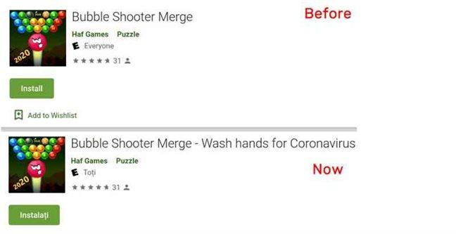 Bubble Shooter Merge - Wash hands for Coronavirus