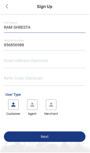Cell Pay Registration