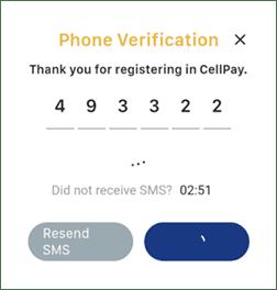 Cellpay Phone Verification