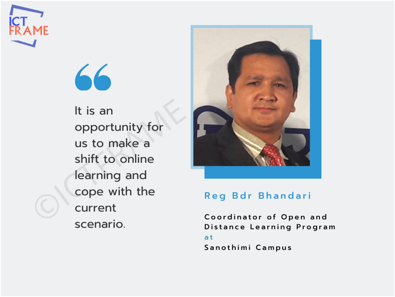 Reg Bahadur Bhandari - Coordinator of Open and Distance Learning Program, Sanothimi Campus