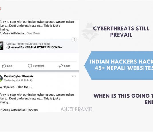Cyberthreat Prevails as Indian Hackers Hack 45+ Nepali Websites