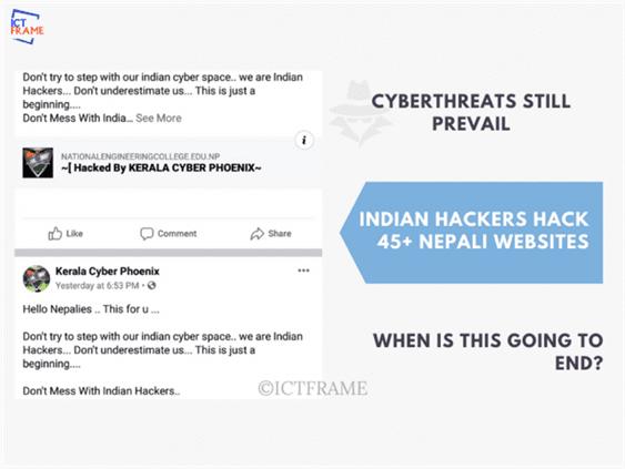Cyberthreat Prevails as Indian Hackers Hack 45+ Nepali Websites