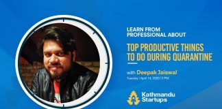 Kathmandu Startups To Host Learn From Professional Deepak Jaiswal