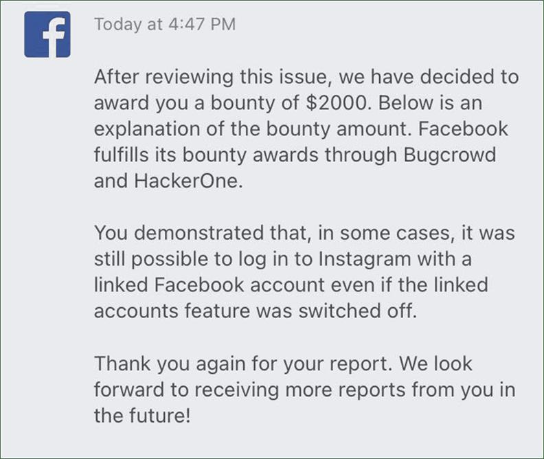 Facebook Reward