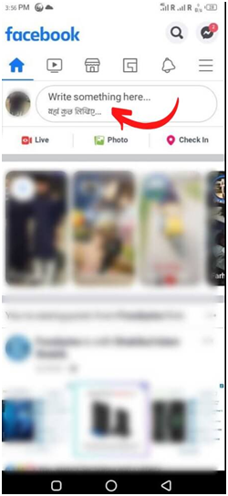 Facebook using Android Phone