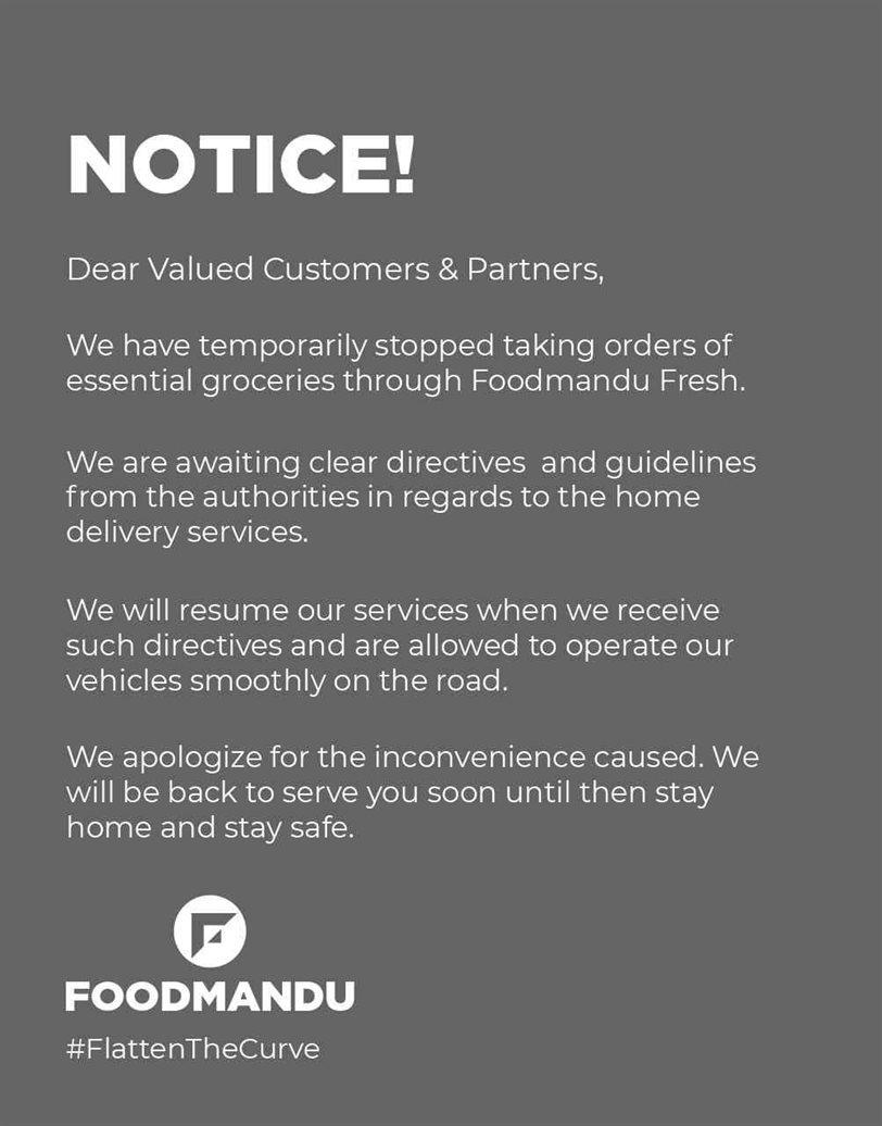 Foodmandu Notice