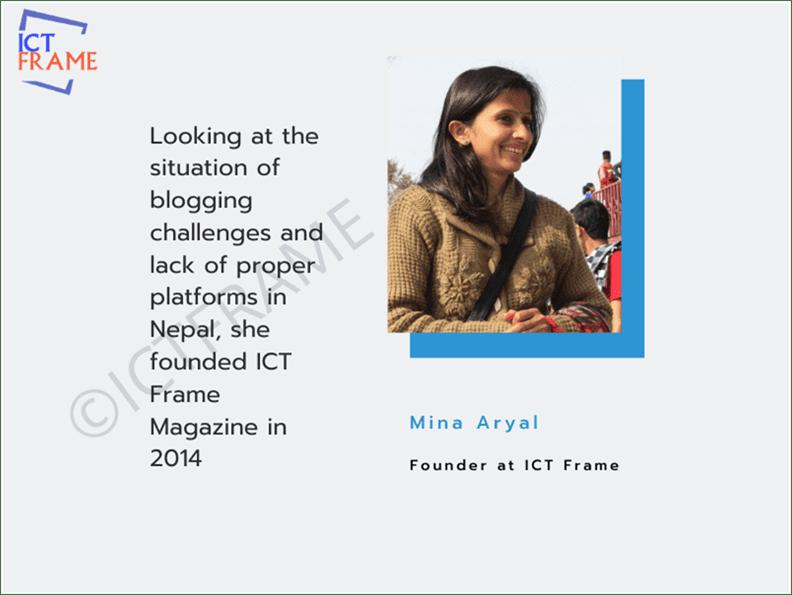 Meet Mina Aryal, Founder at ICTFrame