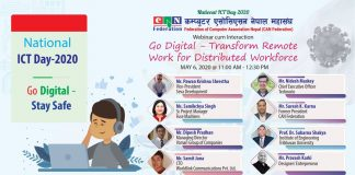 Nepal To Host Webinar Cum Interaction on Go Digital-Work Online
