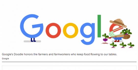 Google Doodle Thanks Farmers,