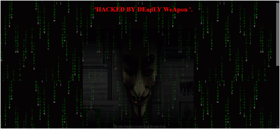 HACKED BY DEadLY WeApon