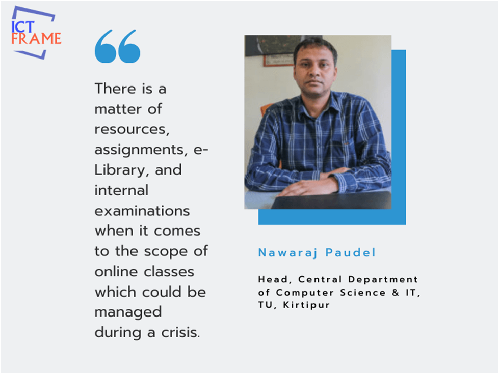 Interview with Nawaraj Paudel - Head, Central Department of Computer Science & IT, TU