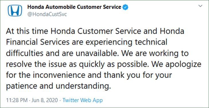 Honda Automobile Customer Service