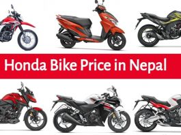 Honda Bikes Price in Nepal in 2020