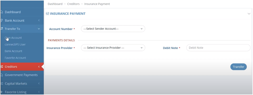 Insurance Payment ConnectIPS