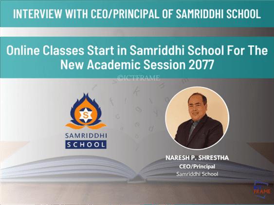Principal Of Samariddhi School Naresh Prasad Shrestha