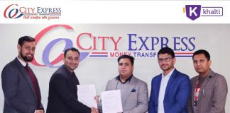 Khalti-City Express partnership for online remittance service in Nepal