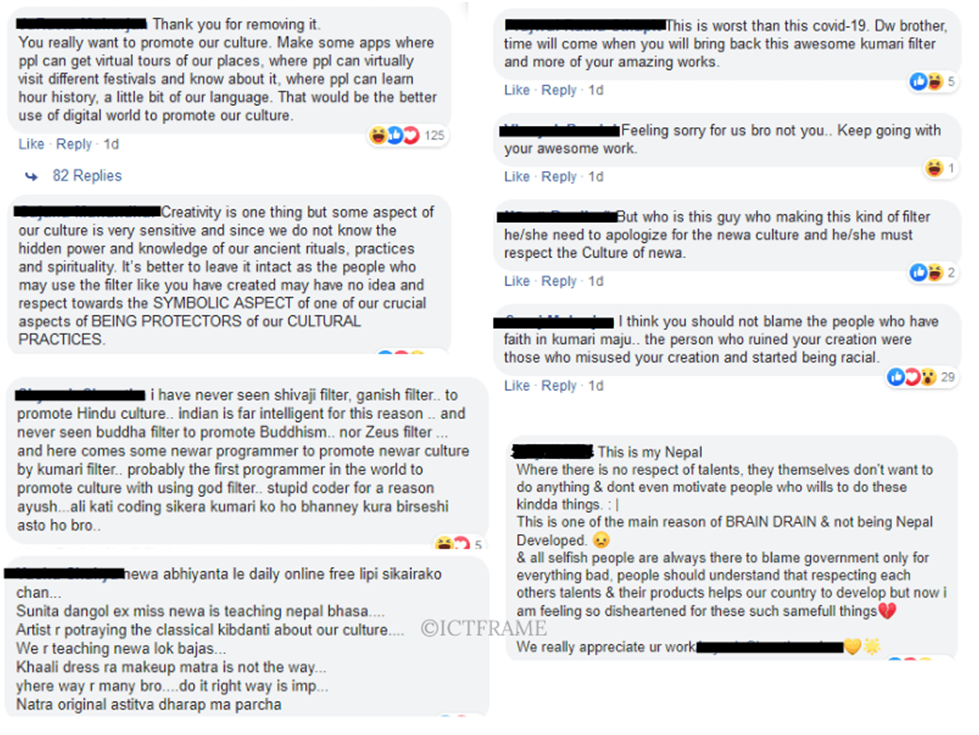 Mixed Reactions from People in Facebook Comments