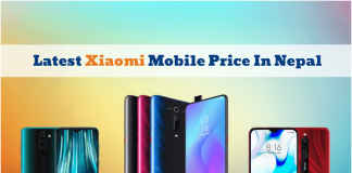 Latest Xiaomi Mobile Price In Nepal