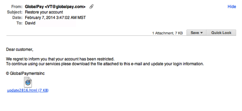 Legit Emails Do Not Ask You To Confirm Personal Information