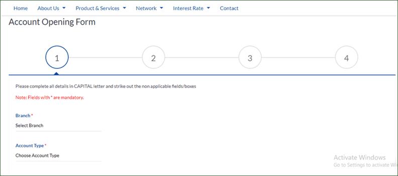 MBL Online Account Form