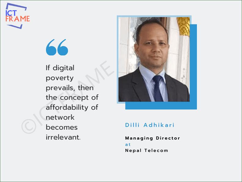 Dilli Ram Adhikari - Managing Director, Nepal Telecom