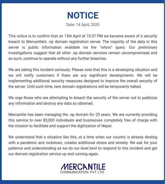 Mercantile Press Release