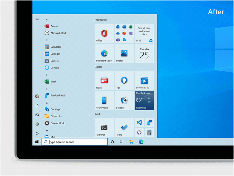 Microsoft Announces New Start Menu Design After