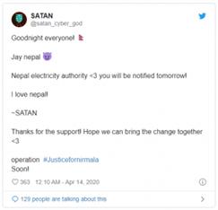NEA SATAN tweet