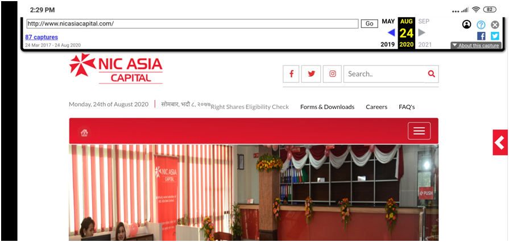 NIC ASIA CAPITAL WEBPORTAL