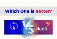 Comparision Between Nepal Telecom and Ncell