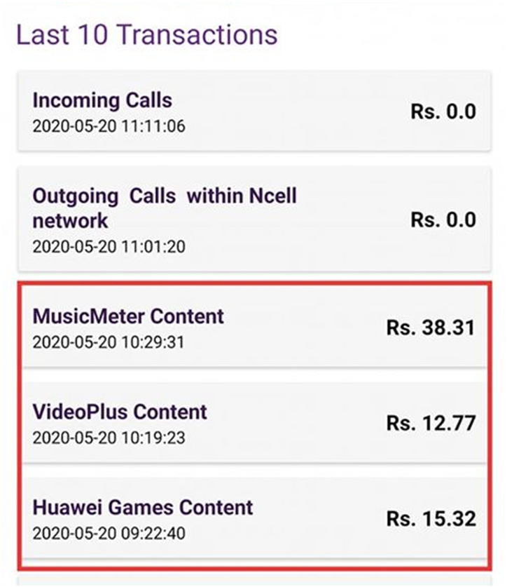 Ncell Charges Balance for Unwanted Subscriptions