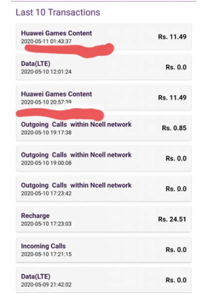 Ncell Malpractice Of Balance Deduction Again