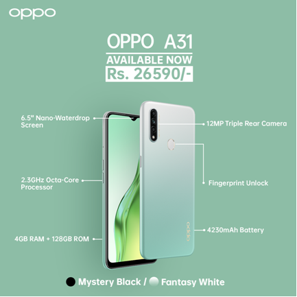 Oppo A31 Nepal