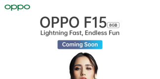 Oppo F15 Lightning Fast, Endless Fun Coming Soon