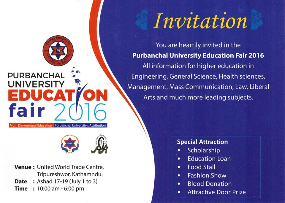 Invitation To Participate At The Pu Education Fair In Wtc