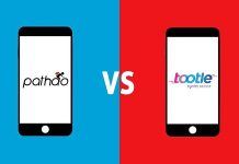 Pathao and Tootle are mobile app-based platforms for bike ride sharing