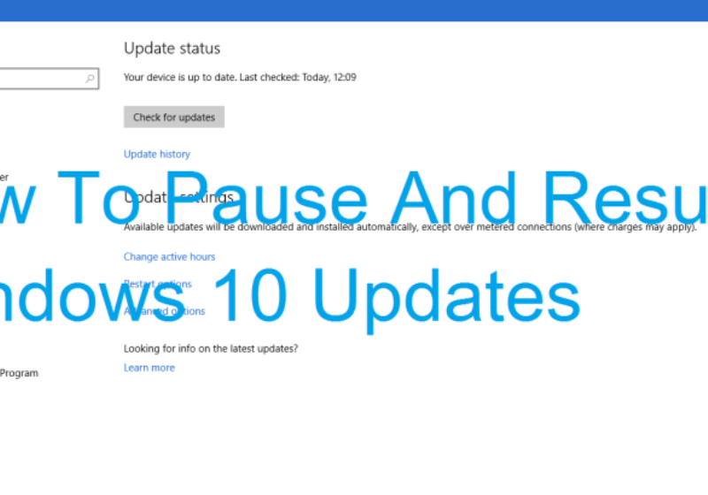 pause and resume a window update download in windows 10 ict
