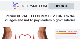 Return Rura Telecom Dev Fund To Villages and Not To Pay Leaders And Government Salaries