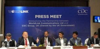 Press Meet Partnership Between CDC Group and World Link Communications