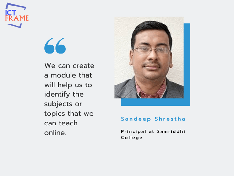 Interview with Sandeep Shrestha - Principal, Samriddhi College