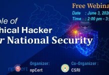 Role of Ethical Hacker for National Security Strategic Development