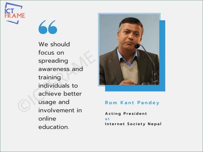 Romkant Pandey - Acting President, Internet Society Nepal