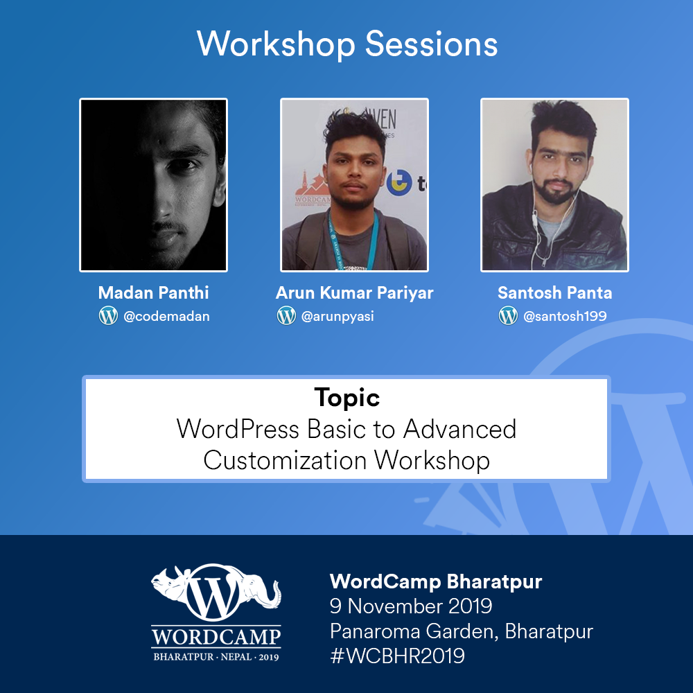 Speakers from wordcamp chitwan